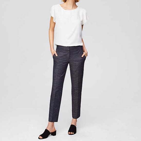 LOFT Pants - ANN TAYLOR LOFT Marisa Fit Trousers in Charcoal 2P